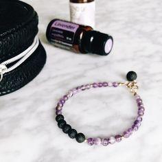 essential oil jewelry diffuser lava amethyst bracelet oils