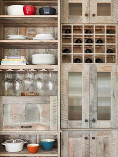 Kitchen cabinets made from pallets