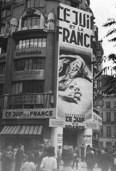On the 5th September 1941 'The Jews and France' exhibition opened in Paris - depicting the Jews as a criminal race responsible for all of France's problems.