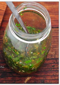 Chimichurri - my variation calls for Cilantro, and Roasted Jalepenos.  Amazing we Love Chimichurri !