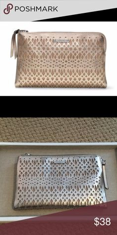 Brand New Stella & Dot Metallic Double Clutch never worn Stella & Dot Bags Clutches & Wristlets