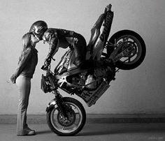 Even bikers celebrate Valentine's day!