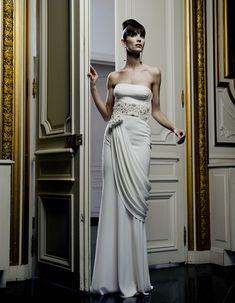 a modern-day goddess Armani Privé gown