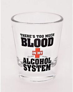 8c7c89bfd63e Blood in Alcohol System Shot Glass - 1.5 oz. - Spencer s