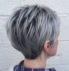 the cut, not the color. cute but not for me . . . .Long Silver Pixie With Black Roots