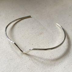 chevron cuff cuff bracelet silver bracelet by TayTayInspired