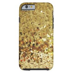 Gold Sparkling Sequin Print Tough iPhone 6 Case