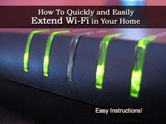 How To Quickly and Easily Extend Wi-Fi in Your Home - Plant Care Today Computer Technology, Science And Technology, Computer Tips, Wifi, La Red, Home Network, Home Automation, Home Repair, Plant Care