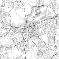 Downtown vector map of Rotherham. Very detailed version for infographic and marketing projects. This map of Rotherham, England, contains typical landm... ... #download #map #infographic  #marketing #travel #city #germany #german# #beautiful #map #communication #design #background #hebstreit