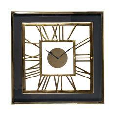 Ceas de perete patrat Richmond Trayson H 46cm Richmond Interiors, Decoration, Mirror, Retro, Frame, Furniture, Vintage, Home Decor, Products