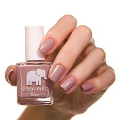 Don't let the name fool you. There's nothing immature about this polish. With just a hint of color and a lot of class, this is the perfect color for the woman on the go. Part of ella+mila's Love Colle