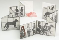 """Kiki Smith, 2002, Artist's book, overall (book, closed): 6 3/4 x 8 3/4 x 13/16"""" (17.1 x 22.2 x 2 cm); overall (book unfolded): 6 3/4 x 122 1/2"""" (17.1 x 311.2 cm); other (insert unfolded): 8 x 21 3/4"""" (20.3 x 55.2 cm). Publisher and printer: LeRoy Neiman Center for Print Studies, Columbia University, New York. Edition: 100. Gift of Lee and Ann Fensterstock, in honor of their daughters, Kate and Jane. © 2012 Kiki Smith"""