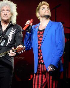 @alalwayz「Love them! @brianmayforreal @adamlambert #QALDallas #adamlambert #queenadamlamberttour #queen」