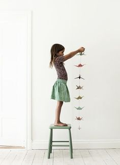 Origami on a string. for the boys' room?
