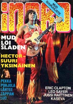 Intro-lehti 1974 Vintage Rock, Vintage Ads, Vintage Party, 70s Glam Rock, Noddy Holder, Old Commercials, British Rock, Mixed Feelings, Eric Clapton