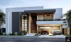 149 most popular modern dream house exterior design ideas page 26 Villa Design, Facade Design, Exterior Design, Architecture Design, Exterior Homes, Architecture Magazines, Residential Architecture, Door Design, House Front Design