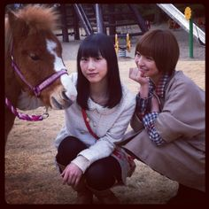 Mariko's more interested in the pony than the other #AKB48 member
