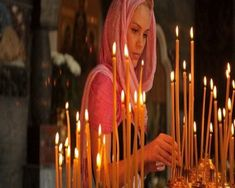 Question: Why do we light candles in the Orthodox Church? Answer: There are typically two types of candles that Orthodox are fa. Orthodox Wedding, Spiritus, Orthodox Christianity, Christian Women, Kirchen, Our Lady, Shakespeare, Spirituality, Culture