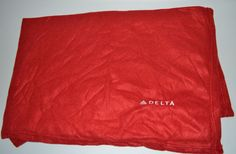 Large Delta Red Fleece Airline Airplane  Blanket Throw Embroidered Logo #Delta #Throw