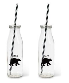 Abbott Glass Mama & Papa Bear Milk Bottles - Set of Two | zulily
