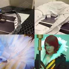 I made a small tutorial last year on how I made the feather collar for my Red cosplay.  If you want to read it click the link in my bio  . . #transistor #transistorcosplay #redcosplay #cosplay #cosplaylife #cosplaytutorial #cosplayprogress #turorial #howto #feathercollar