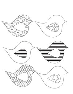 Spring Banner {free printable} and adorable coloring pages, free printable that form a spring banner.adorable coloring pages, free printable that form a spring banner. Bird Template, Applique Templates, Templates Printable Free, Applique Designs, Free Printables, Printable Banner, Free Applique Patterns, Owl Templates, Crown Template