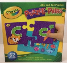 New Sealed Crayola Puzzle Pairs ABC And 123 Puzzles