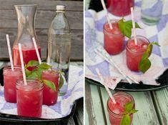 Watermelon basil vodka soda