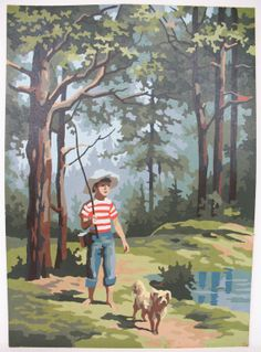 Vintage Paint By Number Painting Boy in Red by MicheleACaron, $48.75