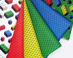 Bricks Fabric Quarter lego inspired FQ geek quilting by spacefem