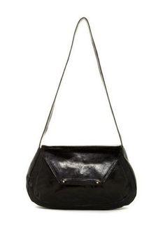 Hobo International NWT $248 Leona Black Leather Shoulder Bag