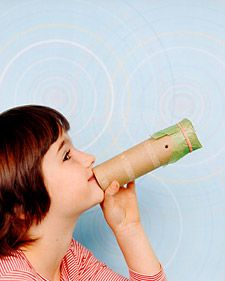 Cool Kazoos - To make this wind instrument, punch a hole near one end of a paper-towel tube. Cover that end with waxed paper, and secure with a rubber band. Hum tunes into the open end.