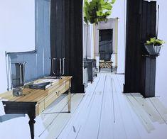 사진 설명이 없습니다. Interior Design Sketches, Sketch Design, Architecture Images, Sketchbook Drawings, Sketch Markers, Designs To Draw, Book Design, Interior And Exterior, Layout