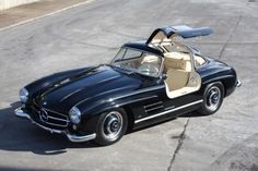 1954 Mercedes-Benz #300SL #Gullwing; DB 40 black paintwork with cream leather upholstery (code 1079); Source: http://kidston.com / #BruceAdams190SL