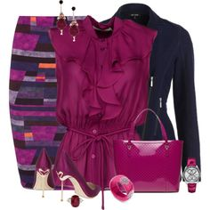 """Purple Stripes"" by feelgood35 on Polyvore"