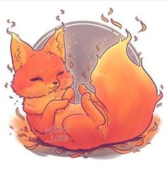 Fire element fox kawaii drawings, fox drawing et Cute Fox Drawing, Cute Animal Drawings Kawaii, Cute Kawaii Animals, Kawaii Art, Cute Drawings, Kawaii Chibi, Anime Animals, Funny Animals, Fox Art