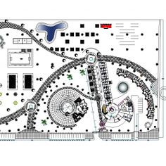 Holiday resort design CAD dwg