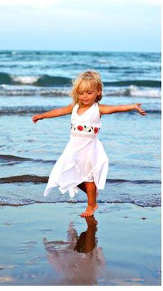 Beach fun / precious little girl