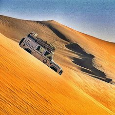Desert rover, sand, hills, breathtaking, view, picture, panorama, wheels, vehicle, transportation.