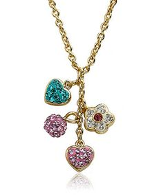 Coming ready to give in a gift box, this lovely necklace is a perfect treat for any little style seeker. With dainty treasures dangling from a delicate chain, this pretty necklace makes the perfect gift.
