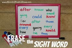 "Keep learning alive this summer with simple & fun learning games like ""Erase the Sight Word"" So easy to set up and play!"