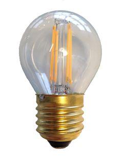 Filament Led kogel 2w/25w E27 Helder extra warm licht (NIET DIMBAAR)