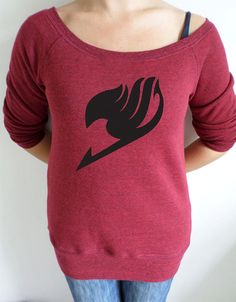 Fairy tail anime guild logo slouch sweatshirt by girlgeekclothing