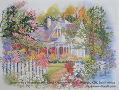 A beautiful piece in silk ribbon embroidery. Click on the image to enlarge