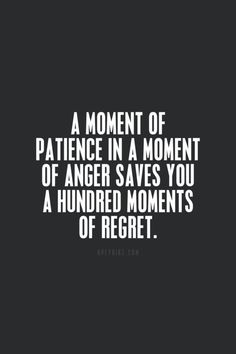 *A Moment of Patience....