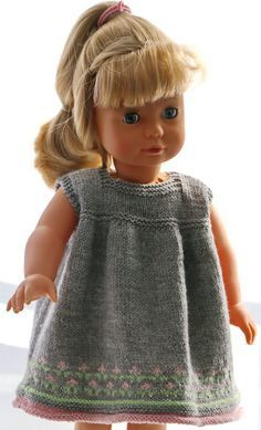 18 inch doll dress knitting pattern - Lovely summer clothes for happy, bright summer-days Doll Dress Patterns, Skirt Patterns Sewing, Crochet Blanket Patterns, Clothing Patterns, Knitting Patterns, Girl Doll Clothes, Girl Dolls, Ag Dolls, Knitted Dolls