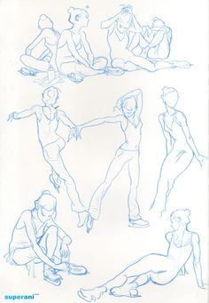 A bunch of drawings from today's figure drawing quick sketch session