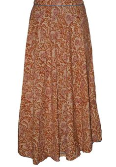 Brown Coloured Block Print Jaipuri Wraparound Skirt  http://alicolors.com/index.php?route=product/product&product_id=1172