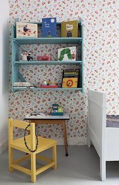 leuk behang voor meisjeskamer Door elly81