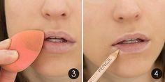 How-To Make Your Lipstick Last Steps 3-4 step 2 sephora super nourishing lip balm step 4 nyx wonder pencil to outline lips to prevent bleeding of lip colors
